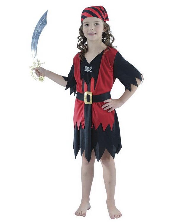Pirat Rampe Jente - Barnekostyme
