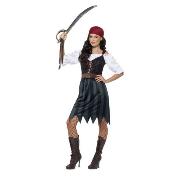 Piratkostyme Lady Mary - L