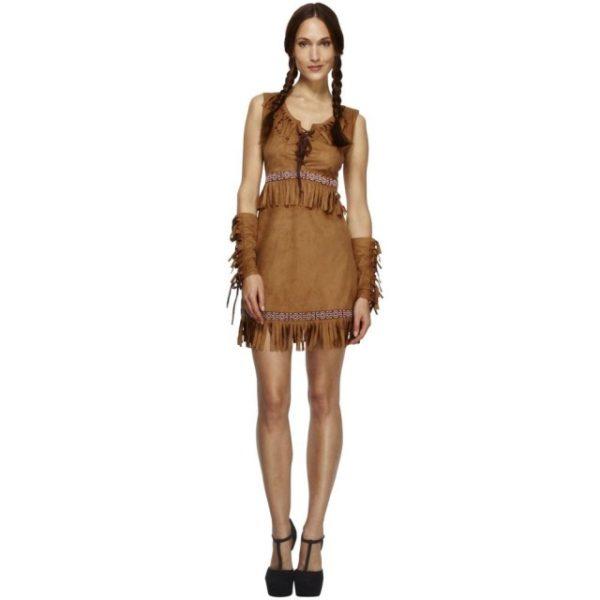 Pocahontas Indianer Kostyme - S