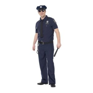 Politi Kostyme NYC Cop - L