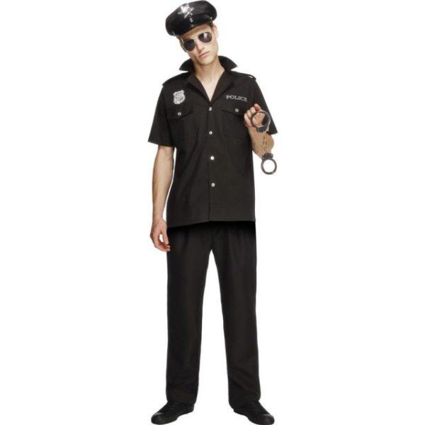 Politi Kostyme Sort - M