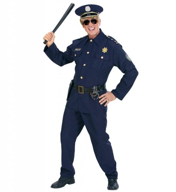 Politimester Kostyme Mann L
