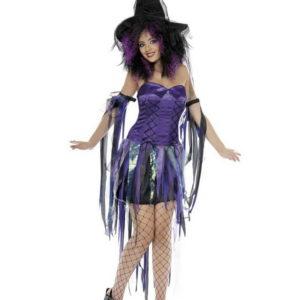 Purple Fantasy Witch - Komplett Kostyme - Strl M