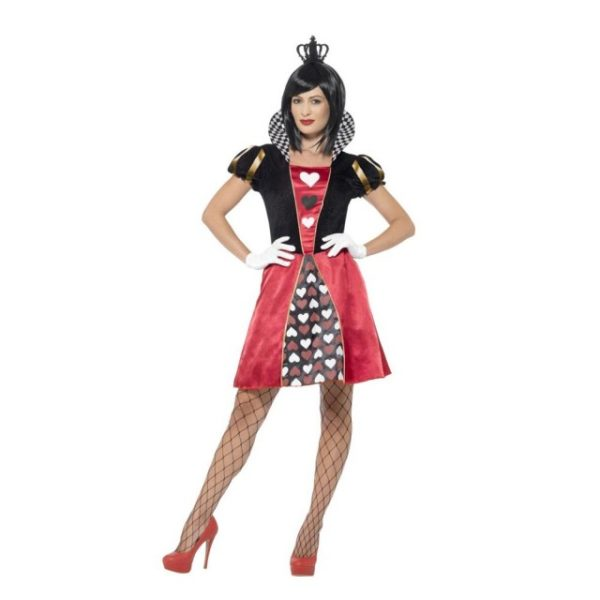 Queen of Hearts Kostyme - L