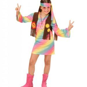 Regnbue Hippie Barnekostyme 158 cm