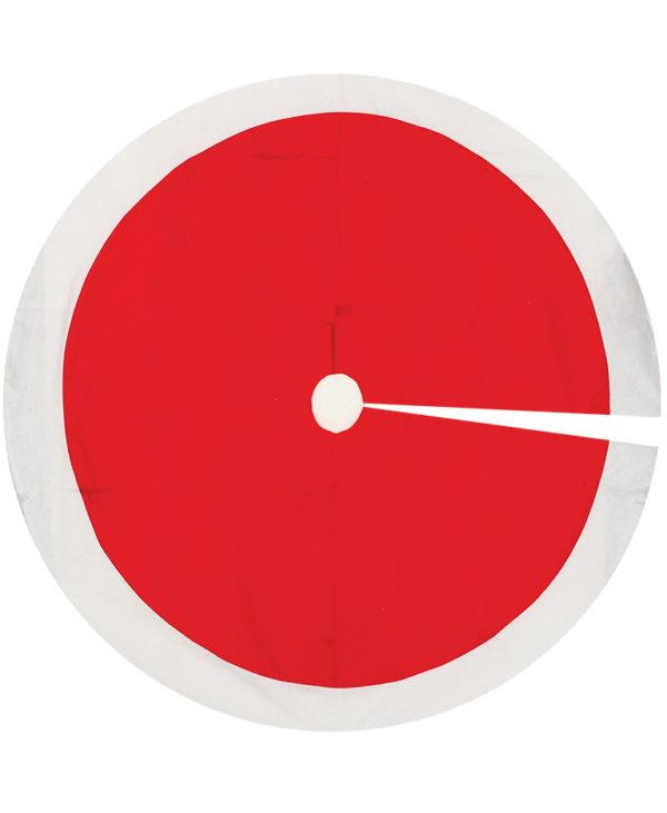 Rød Juletrematte med Hvit Kant og HELE 120 cm i Diameter