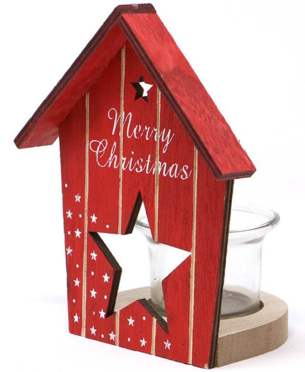 Rød Merry Christmas Telysholder