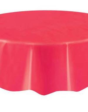 Rød Rund Plastduk 213 cm