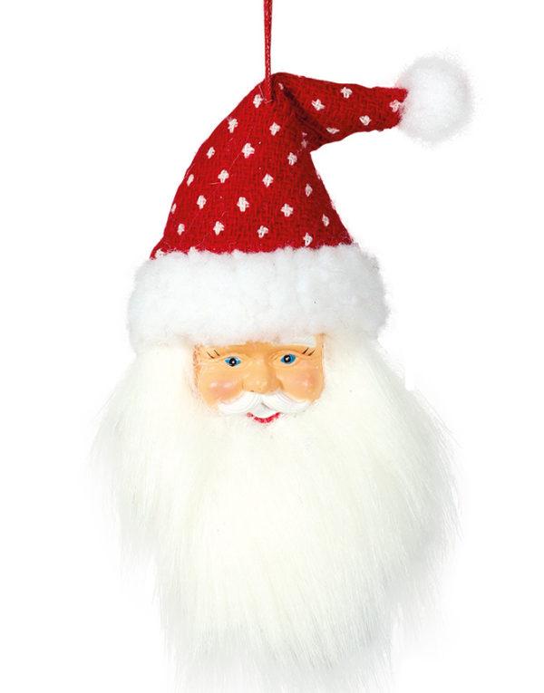 Rød og Hvit Julenisse - 17 cm Juletrepynt