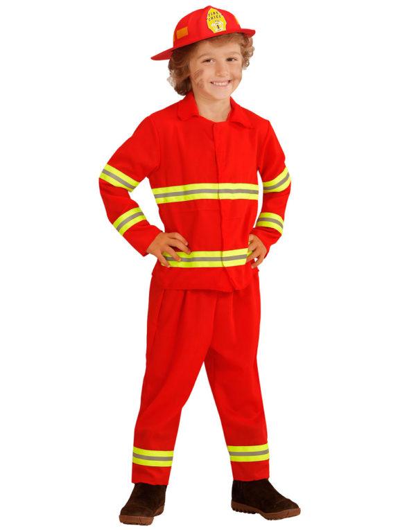 Rødt Brannmannkostyme til Barn
