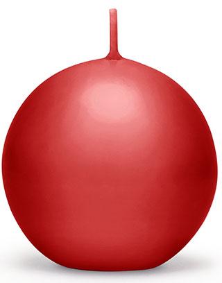 Rødt Kuleformet Stearinlys 6 cm
