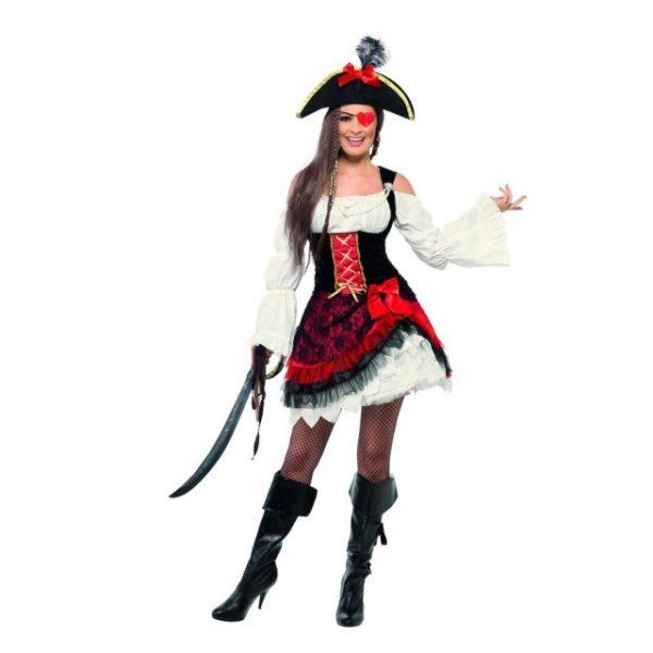 Romantisk Pirat Kostyme - S