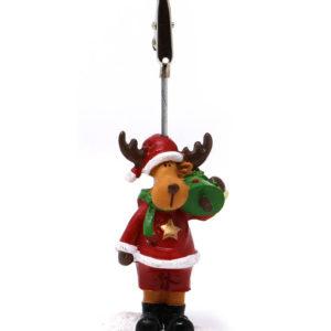 Rudolf i Nisseklær - Bordkortholder 10 cm