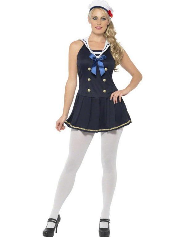 Sailorette Kostyme - Strl S/M