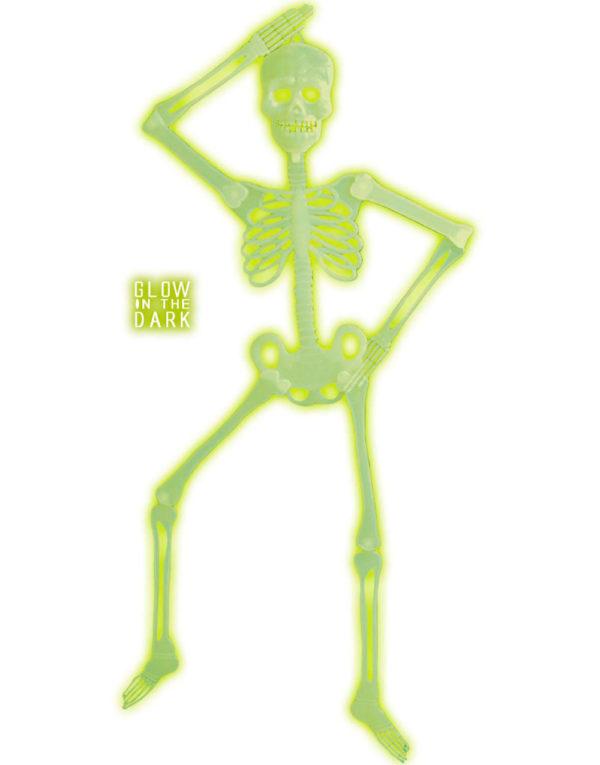 Selvlysende 3D Skjelett - Dekorasjon 90 cm