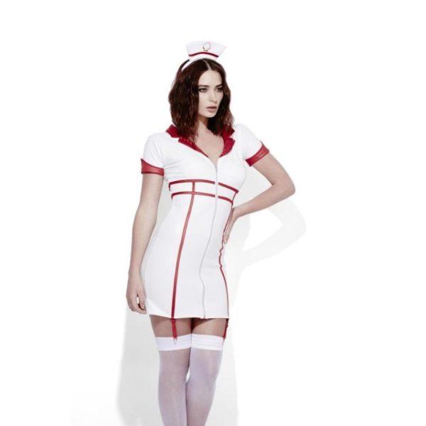 Sexy Sykepleier Hvit Kostyme - M