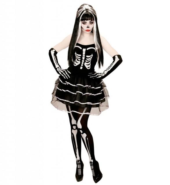 Skjelett Prinsesse Kostyme Dame XL