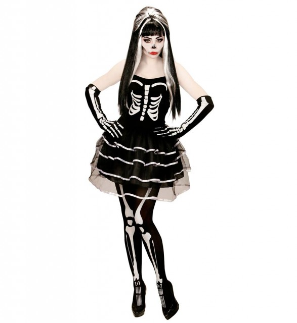 Skjelett Prinsesse Kostyme Dame XS