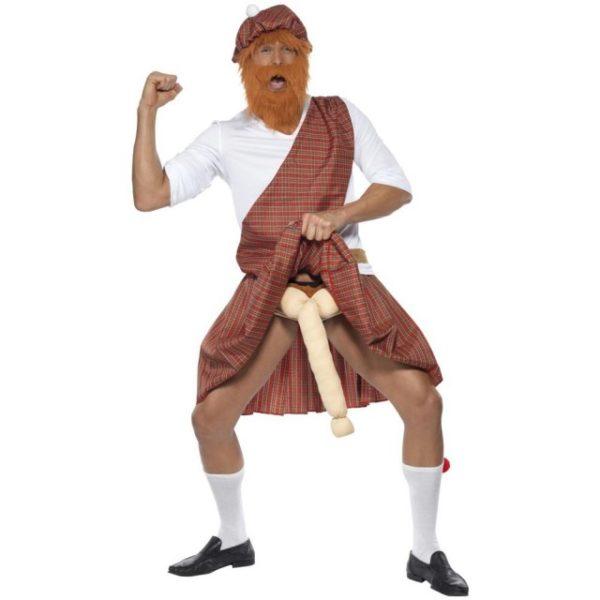 Skotsk Kilt McWilly Kostyme - M