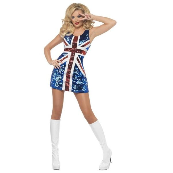 Spice Girls Ginger Kostyme - S