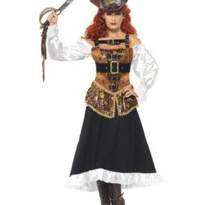Steampunk Pirat Tøs Kostyme