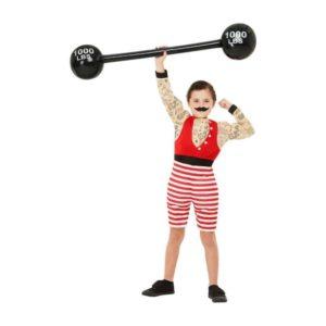Sterk Gutt Vektløfter Barnekostyme S