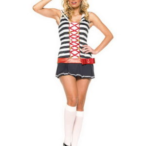 Striped Sailor Girl - Kostyme