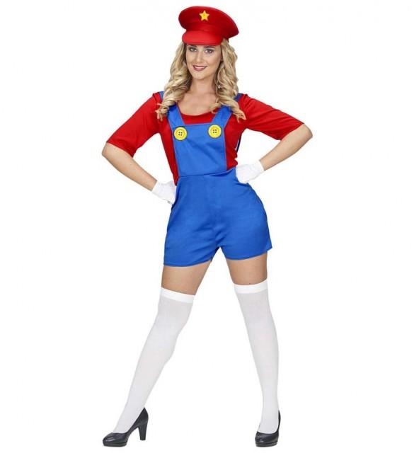 Super Mario Kostyme Dame - S