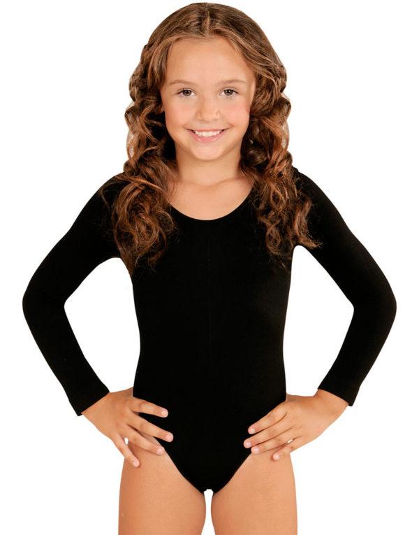 Svart Body med Lange Ermer til Barn
