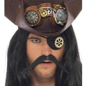 Svart Pirat Patch med Tannhjul