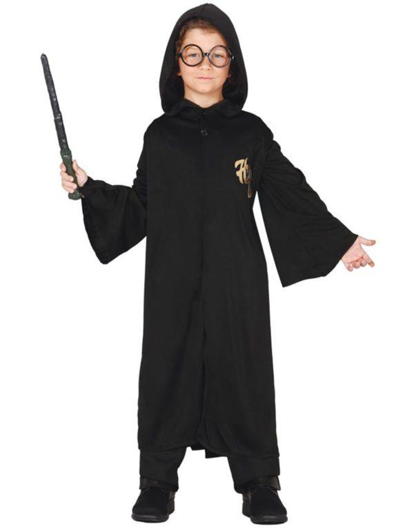 Svart Tryllekunstner Kostymekappe til Barn