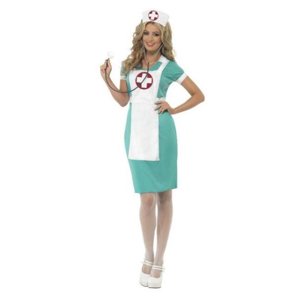 Sykepleier Kostyme Grønn - XL