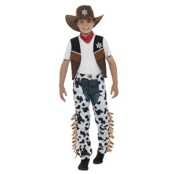 Texas Cowboy Barnekostyme - S
