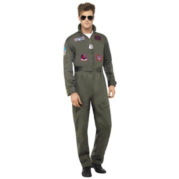 Top Gun Deluxe Kostyme - M