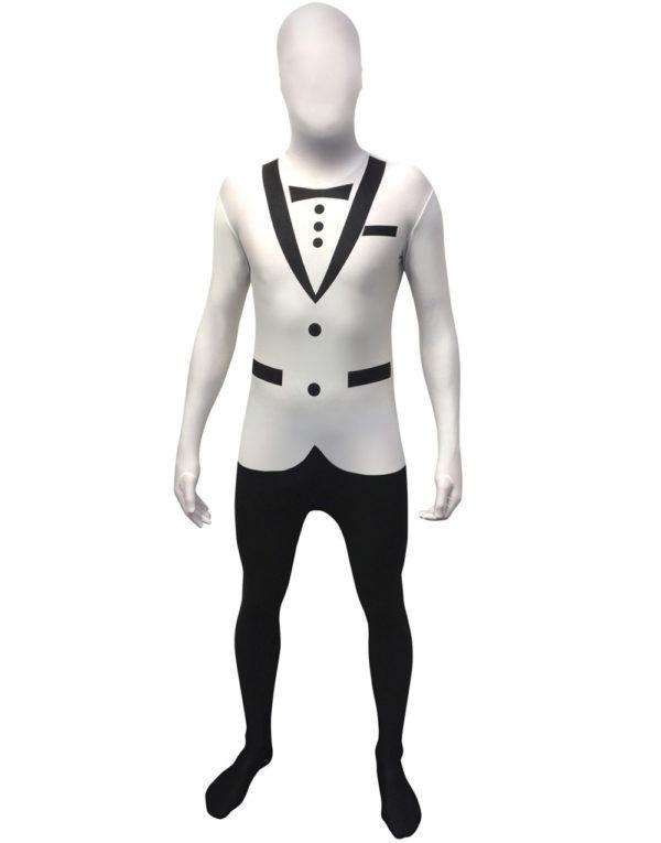 Tuxedo Original Morphsuit Kostyme - Hvit