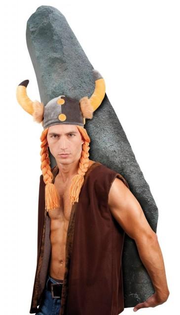 Vikinghjelm Hatt med Hår