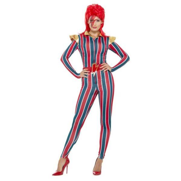 Ziggy Stardust David Bowie Damekostyme - M
