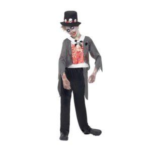 Zombie Brudgom Barnekostyme - L