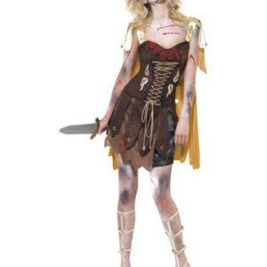 Zombie Gladiator - Kostyme til Dame