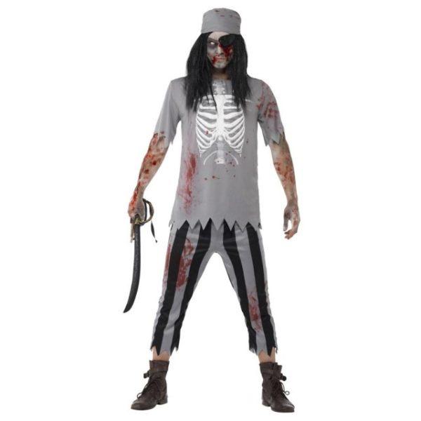 Zombie Pirat Kostyme - S