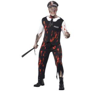Zombie Politi Kostyme - M