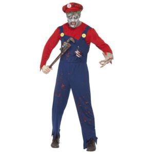 Zombie Super Mario Kostyme - M