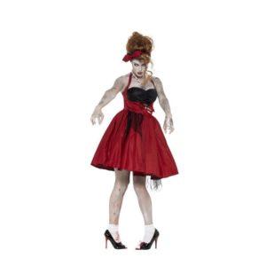 50 talls Rockabilly Zombie Kostyme - S