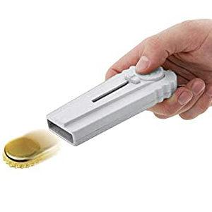 Cap Shooter Opptrekker med Nøkkelring 12 cm - Hvit