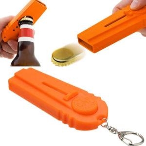 Cap Shooter Opptrekker med Nøkkelring 12 cm - Orange