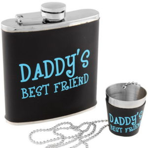 Daddy's Best Friend - Sett med Lommelerke og Shotglass
