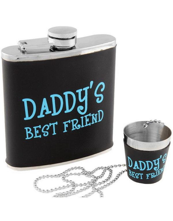 Daddy's Best Friend - Sett med Lommelerke og Shotglass