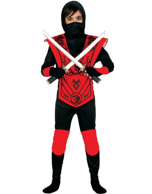 Den Røde Ninja Barnekostyme