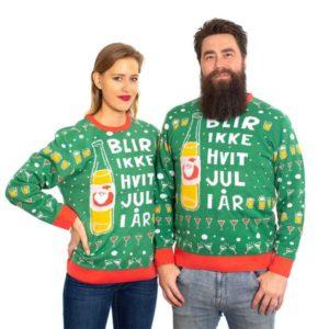 """""""Det blir ikke hvit jul i år"""" Julegenser XL"""