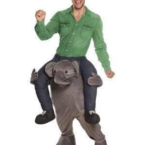 Elefant Piggyback Unisex Kostyme